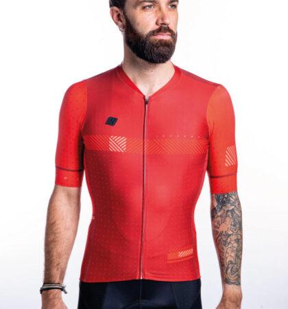 Maillot ciclista SPECTRA RED delante