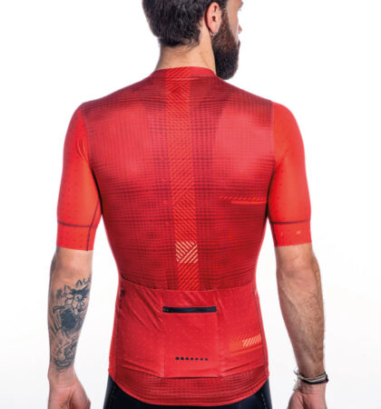 Maillot ciclista SPECTRA RED detras