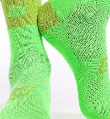 Calcetines deportivos 14 cm CLAW VERDES