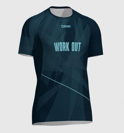 Camiseta fitness manga corta WORK OUT
