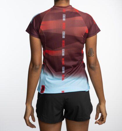 Camiseta manga corta trail running mujer RED CAMU