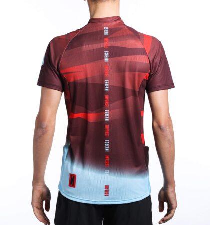 Camiseta manga corta trail running hombre RED CAMU
