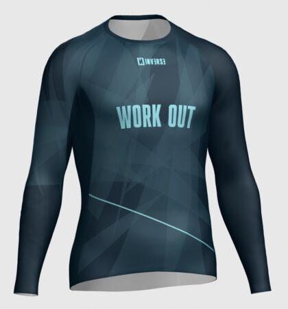 Camiseta manga larga fitness WORK OUT
