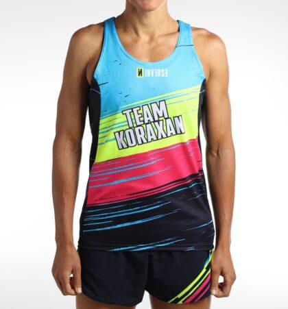Camiseta tirantes running TEAM KORAXAN