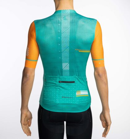 Maillot ciclista SPECTRA TURQUOISE detras