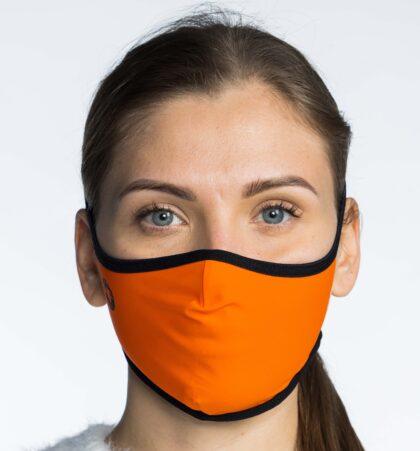 Mascarilla higienica naranja