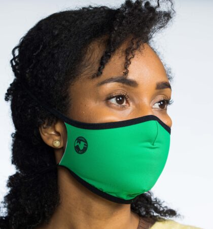 Mascarilla higienica verde